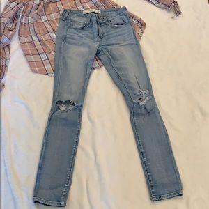Abercrombie skinny jeans, 25/OS